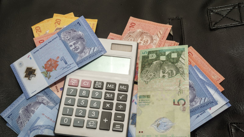 malaysia money with label Utility Bills (close-up) - financial c