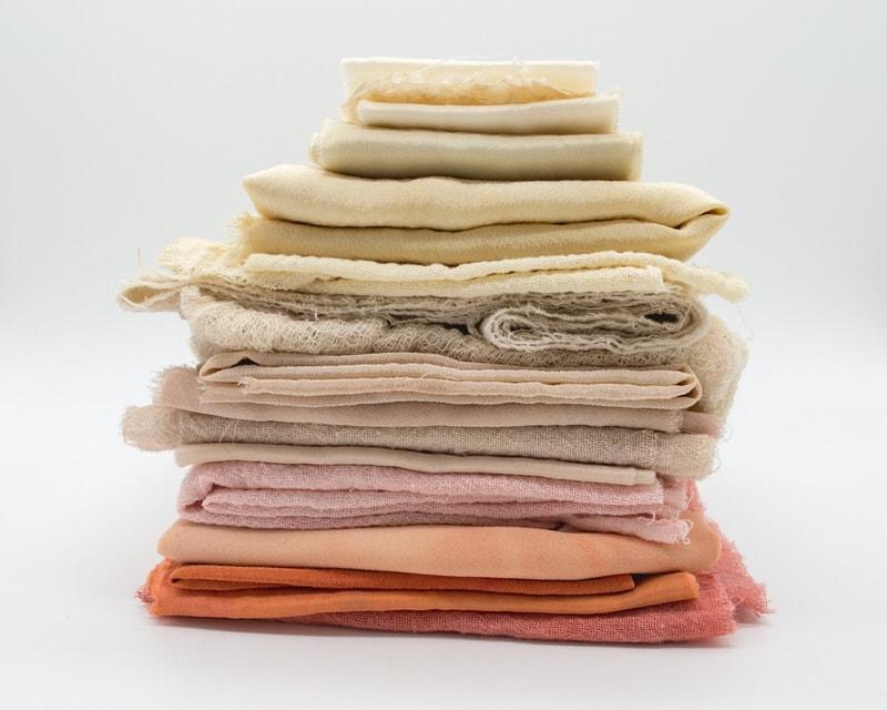 stack of folded linen