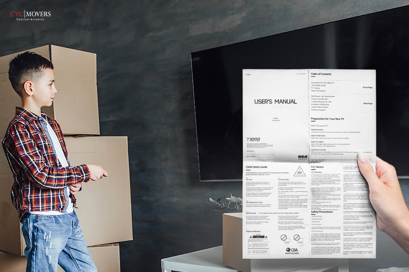 professional mover following a product user guide